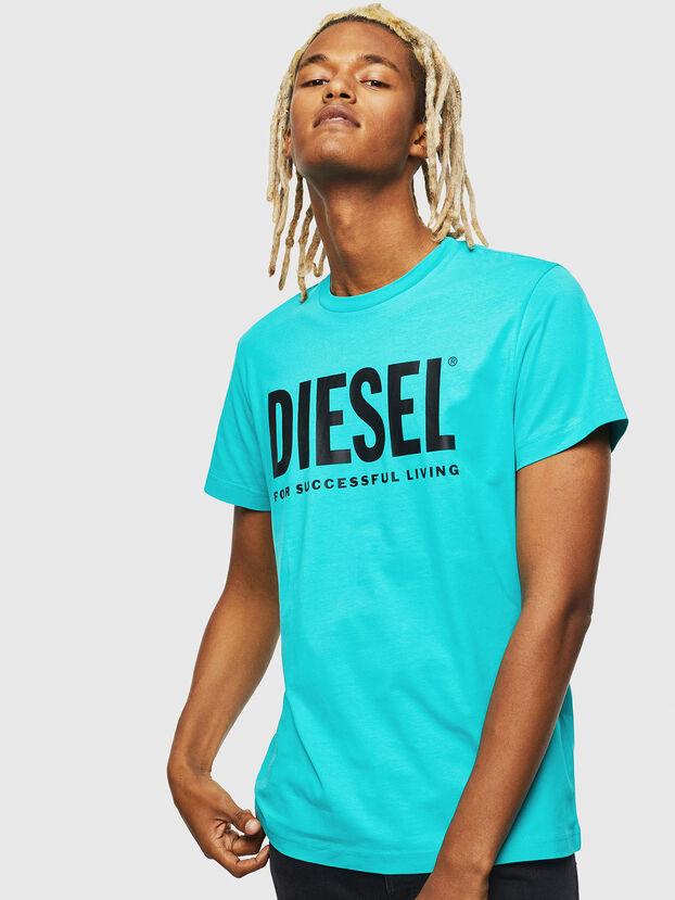 T-DIEGO-LOGO, Azurblau - T-Shirts