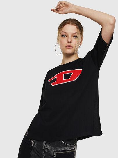 Diesel - T-JACKY-I, Schwarz - T-Shirts - Image 1