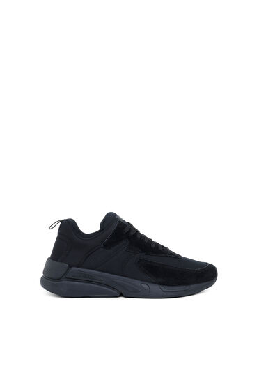 Sneakers aus Ripstop und Wildleder