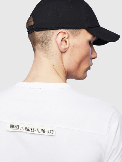 Diesel - T-RABEN-POCKET, Weiß - T-Shirts - Image 6