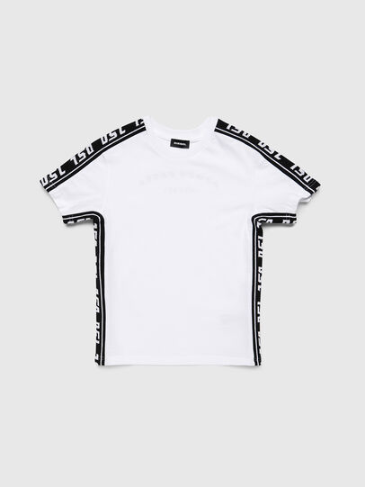 Diesel - TJUSTRACE, Weiß/Schwarz - T-Shirts und Tops - Image 1