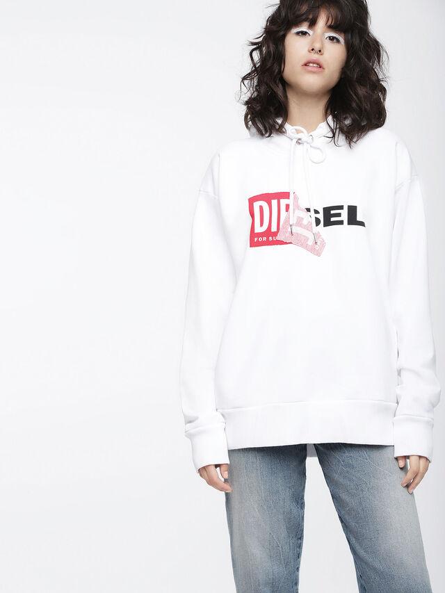 Diesel - F-ALBY-FL-A, Weiß - Sweatshirts - Image 1