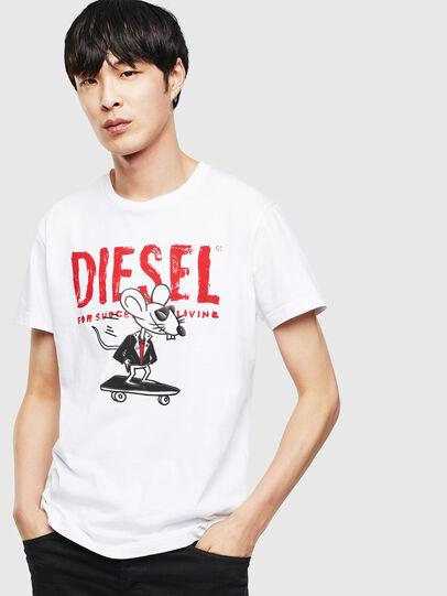 Diesel - CL-T-DIEGO-1, Weiß - T-Shirts - Image 1