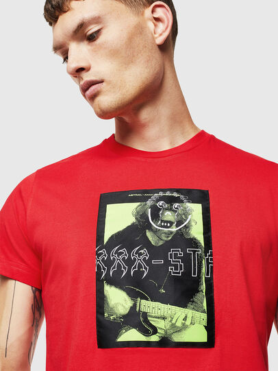 Diesel - T-DIEGO-J1, Rot - T-Shirts - Image 3