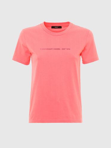 """Copyright""-Logo-T-Shirt aus Baumwolle"