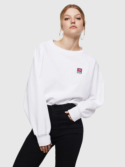 Diesel - F-HENNY-E, Weiß - Sweatshirts - Image 1