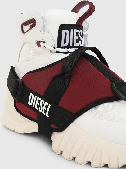 Diesel - S-SHARQUEZ MID, Weiß/Rot - Sneakers - Image 5