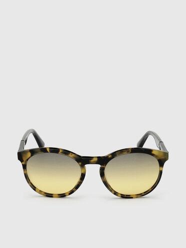 Unisex-Sonnenbrille mit abgerundeter Silhouette