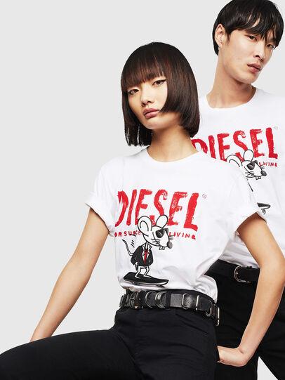 Diesel - CL-T-DIEGO-1, Weiß - T-Shirts - Image 5