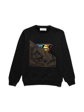 D-HALF&HALF, Schwarz - Sweatshirts