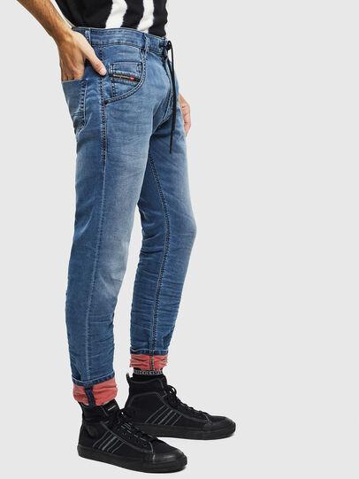 Diesel - Krooley JoggJeans 069MA, Mittelblau - Jeans - Image 4