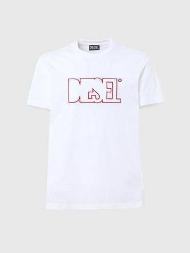 Green Label T-Shirt mit Fleece-Aufnäher