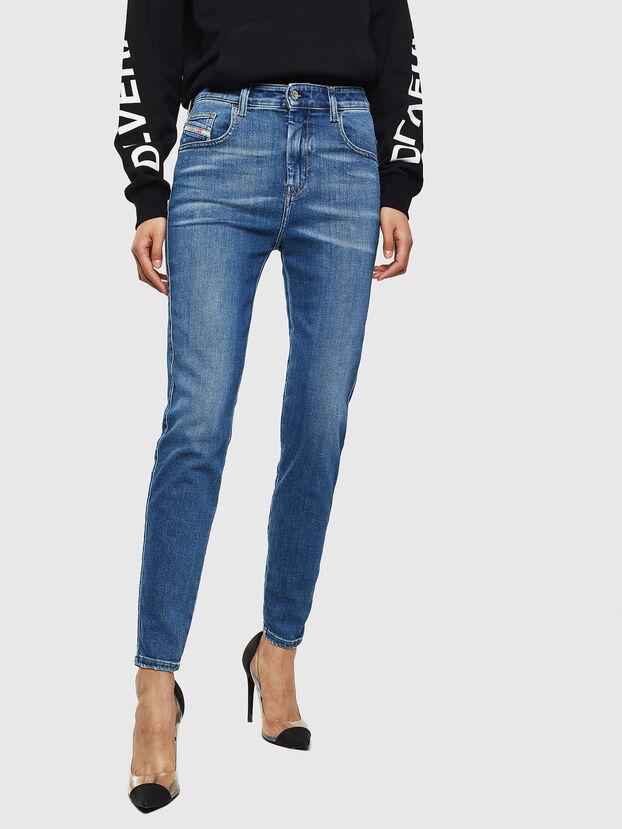 Slandy High 009AG, Mittelblau - Jeans