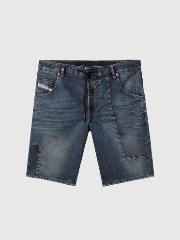 Shorts aus JoggJeans im Patchworkdesign