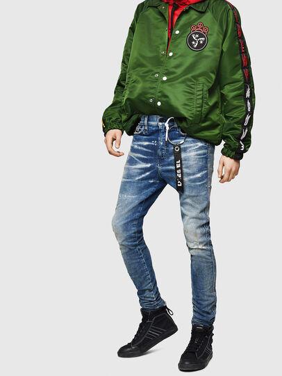Diesel - D-Reeft JoggJeans 0870Q, Mittelblau - Jeans - Image 4