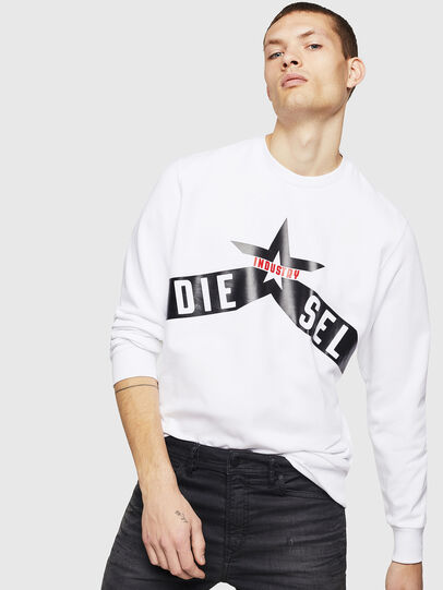 Diesel - S-GIR-A2, Weiß - Sweatshirts - Image 4