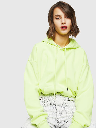 Diesel - S-ALBY-FLUO, Neongelb - Sweatshirts - Image 5