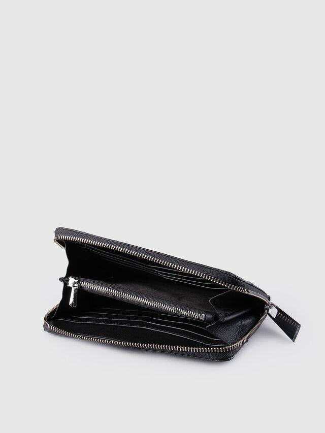 Diesel - GRANATO, Lederschwarz - Portemonnaies Zip-Around - Image 4