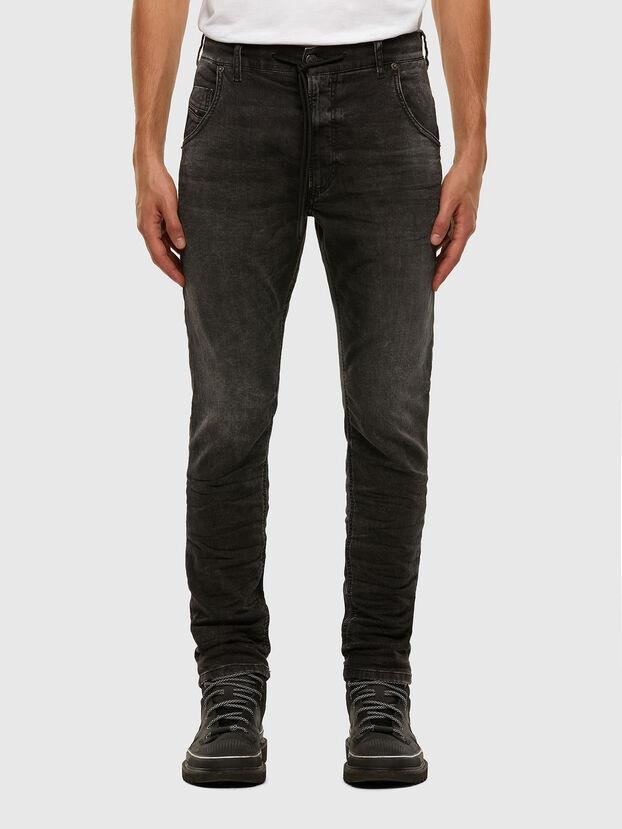 Krooley JoggJeans 009FZ, Schwarz/Dunkelgrau - Jeans