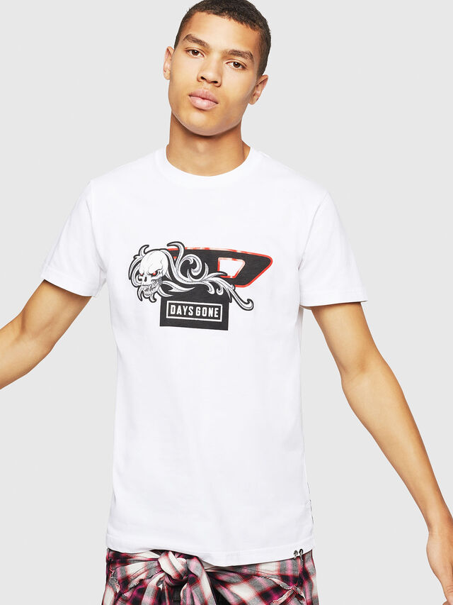 Diesel - PS-T-DIEGO-OCTOSKULL, Weiß - T-Shirts - Image 1