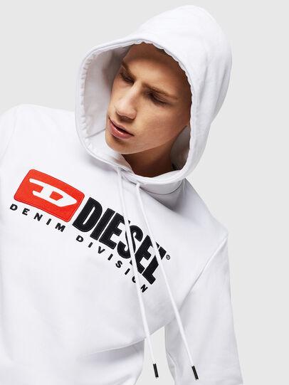 Diesel - S-GIR-HOOD-DIVISION, Weiß - Sweatshirts - Image 3