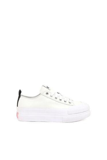 Leder-Sneakers mit Doppelsohle