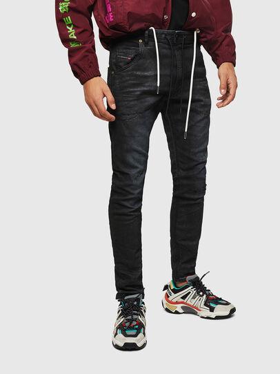 Diesel - Krooley JoggJeans 069GP, Schwarz/Dunkelgrau - Jeans - Image 1