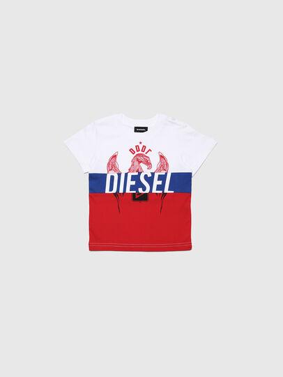 Diesel - TRICKYB-R, Weiß/Rot/Blau - T-Shirts und Tops - Image 1