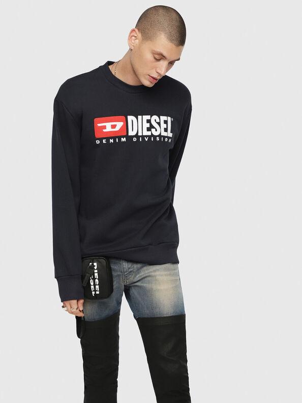 S-CREW-DIVISION, Dunkelblau - Sweatshirts