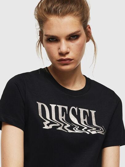 Diesel - T-SILY-WN, Schwarz - T-Shirts - Image 3