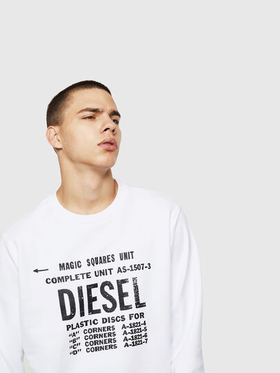 Diesel - S-GIR-B5, Weiß - Sweatshirts - Image 3