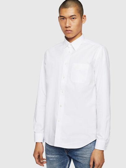 Diesel - S-MOI-R-BW, Weiß - Hemden - Image 1
