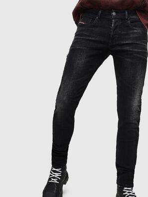 Sleenker 0092B, Schwarz/Dunkelgrau - Jeans