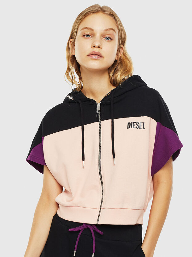 UFLT-PHYLOSH-HOOD, Schwarz/Rosa - Sweatshirts