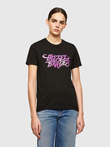 T-Shirt mit Diesel Braves-Aufdruck
