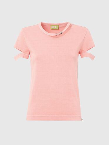 Nachhaltig hergestelltes T-Shirt mit Cutout-Details