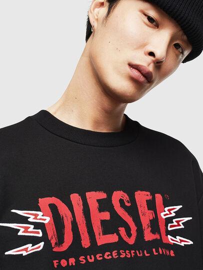 Diesel - CL-SNOR-LITMA, Schwarz - Sweatshirts - Image 3