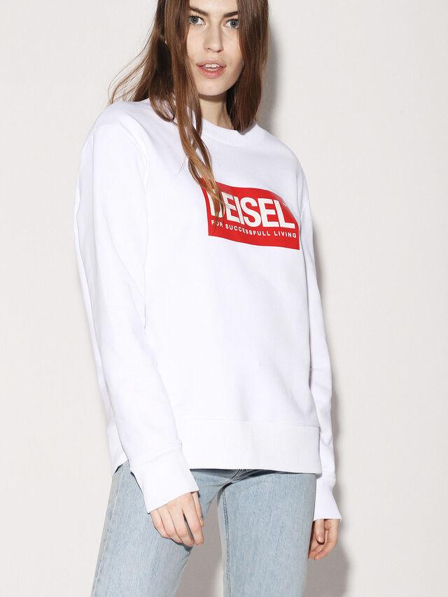 Diesel - DEIS-SGIRO, Weiß - Sweatshirts - Image 3