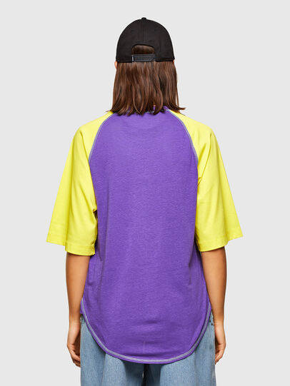 Diesel - T-SPO, Violett/Gelb - T-Shirts - Image 2