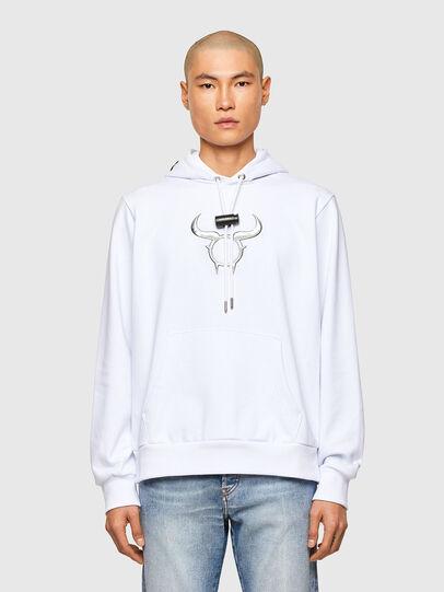 Diesel - CL-S-GIRK-HOOD-O, Weiß - Sweatshirts - Image 1