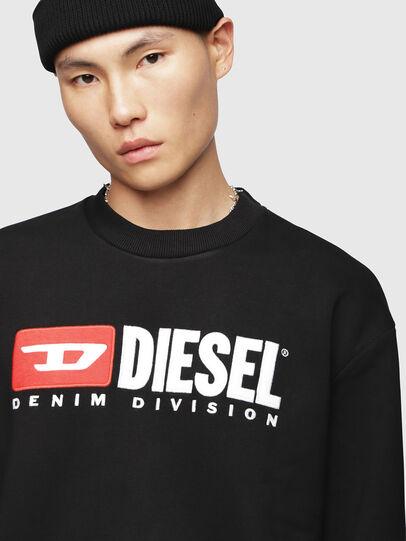 Diesel - S-CREW-DIVISION, Schwarz - Sweatshirts - Image 3