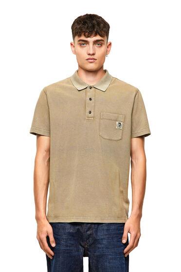 Polo-Shirt aus gewaschener Baumwolle