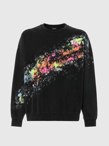 Sweatshirt mit buntem Aufdruck