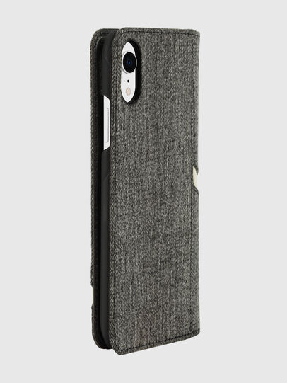 Diesel - DIESEL 2-IN-1 FOLIO CASE FOR IPHONE XR, Grau - Klappcover - Image 4