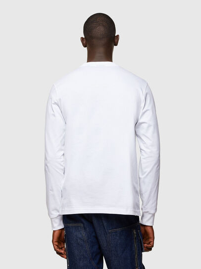 Diesel - T-JUST-LS-A10, Weiß - T-Shirts - Image 2