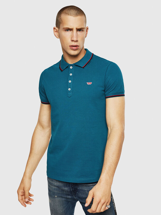 T-RANDY-NEW, Marineblau - Polohemden
