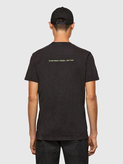 Diesel - T-DIEBIND-SLITS-A2, Schwarz - T-Shirts - Image 2
