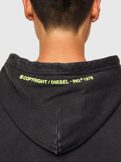 Diesel - S-GIRRIB-HOOD-A71, Schwarz - Sweatshirts - Image 4