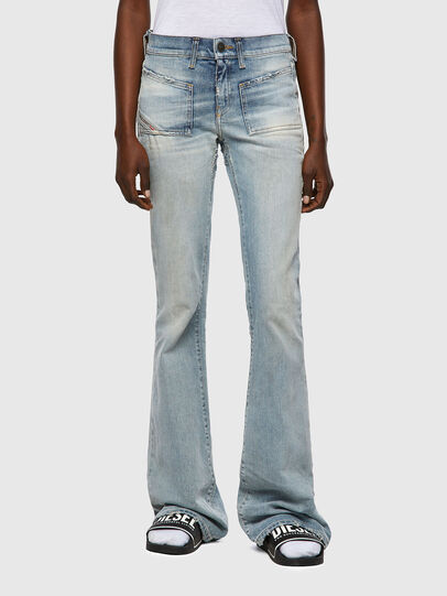 Diesel - D-Ebbey 09A04, Hellblau - Jeans - Image 1