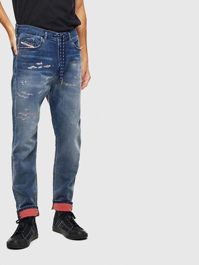 Diesel - D-Vider JoggJeans 069LW, Dunkelblau - Jeans - Image 1